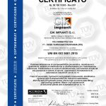 Certificazione UNI EN ISO 9001:2015 Gik Impianti